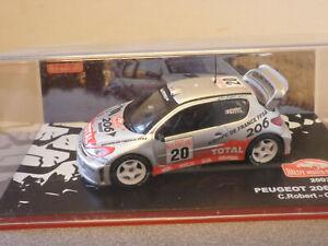 Monte Carlo Rallye 2003 Peugeot 206 C Robert - G Bedon 1/43rd Scale