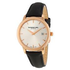 Raymond Weil Toccata Silver Dial Black Satin Ladies Watch 5388-PC5-65001