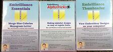 Embrilliance Essentials, Alpha Tricks, & Embrilliance Thumbnailer Triple Set