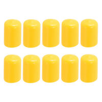 10pcs Durable Pool Cue Protector Billiards Accessories for Snooker Yellow
