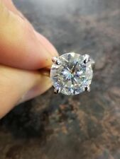 14K White Gold 6.96ct H-I Color Moissanite Beautiful Engagement Ring #Nnk