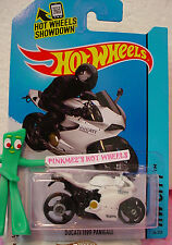 Q 2014 i Hot Wheels DUCATI 1199 PANIGALE motorcycle #36☆White/Black☆Speed Team