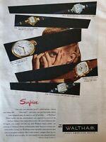 "1947 Vintage Original The American Magazine Print The New Waltham Watch 11x8.5"""