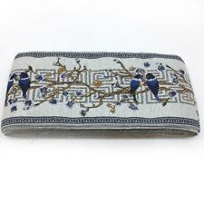 5M Vintage Chinese Magpie Floral Crochet Fringe Linen Jacquard Ribbon Braid Trim