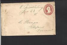EAST MIDDLEBURY,VERMONT COVER,3CT NESBITT ENTIRE,ADDISON CO. /OP.