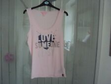 Lipsy London Ladies Pink Vest Top Size M Good Clean Condition