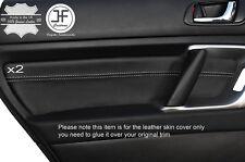 Grey stitch 2X porte arrière carte bordure cuir couvre pour subaru outback 2003-2009