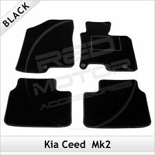 Kia Ceed Mk2 (3 Holes) 2012 2013... Tailored Fitted Carpet Car Mats Black