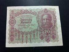 Banknotes-Austria-Austria-20-Kronen 1922 + GRATIS 3 BANKNOTES- CROATIA !!!