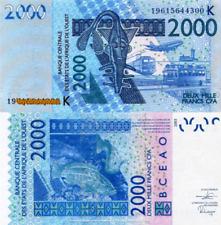 WEST AFRICAN STATES, SENEGAL, 2000, 2019, Code K, PNEW, UNC