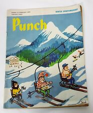 Punch Magazine British Political Satire 19 February 1969 Winter Sportsmanship