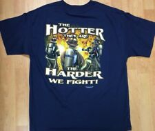 Firemen's The Hotter They Are The Harder We Fight Men's XL Shirt New Novelty