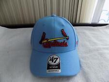 St Louis Cardinals 47 Brand Baseball Hat Cooperstown MVP Adjustable Powder Blue