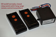 12V NORMALLY-CLOSED 12vout on/off long range remote control switch RS30P2