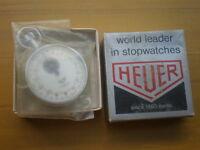 HEUER Trackstar Stoppuhr 7 Jewels,SWISS,1960's,NOS,NEW OLD STOCK