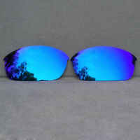 Polarized Ice Blue Mirrored Replacement Lenses for-Oakley Flak Jacket