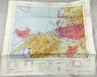 1966 Vintage Militare Map North Wales Lancashire UK Topographical il Grafico Raf