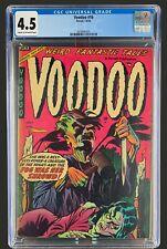Voodoo #16 CGC 4.5 - Ajax Farrell Comics 1954 - Golden Age Horror Crime & Scifi!
