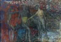 "Expressionist Öl Leinwand ""Hinrichtung"" 75 x 53 cm"