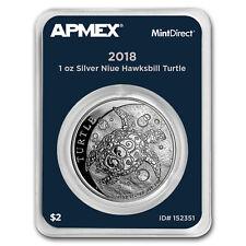2018 Niue 1 oz Silver $2 Hawksbill Turtle (MintDirect® Single)