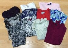 Lot of Womens Large Shirts 11 Career Tops Blouse Business Casual Office Sweater