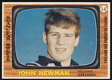1967 Scanlens Geelong No. 14 John Newman Cats MINT Card r