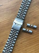 22mm seiko jubilee stainless steel bracelet mens gents watch strap curved lugs.