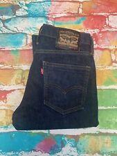 R50 Levis 511 Mens Blue Jeans Black Label Red Pockets Stitching Waist 32 Leg 30