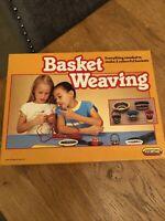 Vintage 1990 Spear's Games Basket Weaving Kit Rare Craft Toy VGC