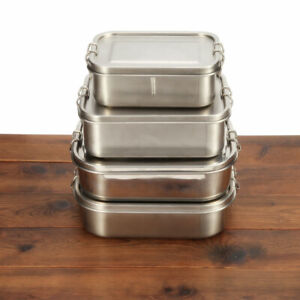 Kids Adult Stainless Steel Lunchbox Food Containers Bento Box School Picnic Box