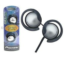 Pioneer SE-E7-S Clip Headphones Soft Feel Stereo Earphones SEE7 Silver /GENUINE