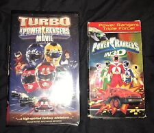 Saban's POWER RANGERS IN 3-D AND TURBO A POWER RANGERS MOVIE VHS VIDEOS
