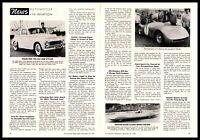 1957 Skoda Sports Car Jikov Carburetors Czechoslovakia Article 2-Page Print Ad
