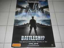 BATTLESHIP  2012 HORROR HASBRO TRANSFORMERS MINT DS OS TEASER CINEMA POSTER  # 1