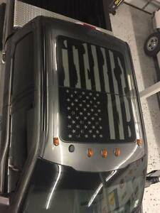 FORD F150 DISTRESSED FLAG ROOF PANEL SUNROOF DECAL F-250 F-350 2015 - 2020