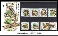 GIBRALTAR - 2001 SNAKES / REPTILES - SET OF 7 STAMPS IN COLLECTIBLE FOLDER