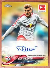2018-19 Topps Chrome Soccer Timo Werner Gold Refractor Auto /10!