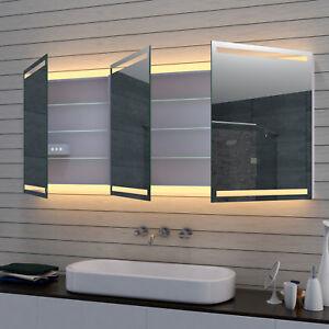 LED Badezimmerschrank Spiegelschrank Badschrank Badmöbel Kosmetikspiegel 160cm