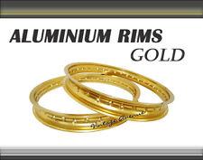 "[VA] YAMAHA YZ125 1981 1982 1983 ALUMINIUM (GOLD) FRONT 21"" + REAR 18"" WHEEL RIM"