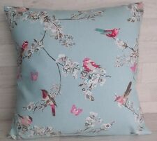 Handmade Cushion Cover -  Beautiful Birds - Duck Egg - Same Both Sides