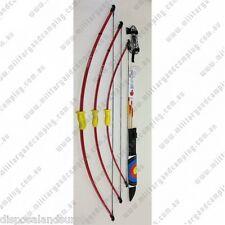 "Fibreglass Longbow 130cm Childrens Archery Bow Set 51"""
