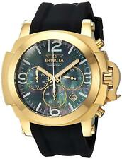 Invicta 22277 Coalition Forces Men's 48mm Gold-Tone Steel Black MOP Dial Watch