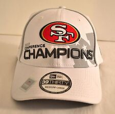 New Era NWT 39Thirty 2012 Conference Champions SF 49r's White Hat Medium/Large