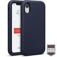 Cellairis Aero Case for Apple iPhone XR - Rapture Navy Blue/Black Matte Finish