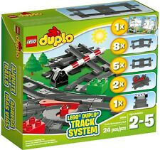 LEGO 10506 Duplo Train Accessory Set, Curved Rails, Switch Track, Crossing