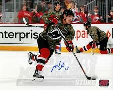 Mike Cammalleri #13 New Jersey Devils Signed Autographed Military Salute 8x10
