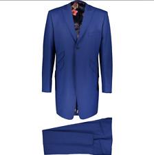 WILLIAM HUNT 3 Piece Wool Blend Morning Suit - Blue - 44R