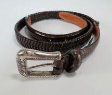 Brighton Leather Belt Alligator Croc Print Q5108 Brown XL 36