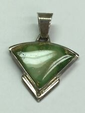 With Turquoise Stone Signed A Franci Native American 925 Sterling Silver Pendant