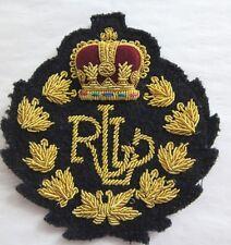 RALPH LAUREN Black Blazer Logo Patch RLL Crown Raised Crest Exc.